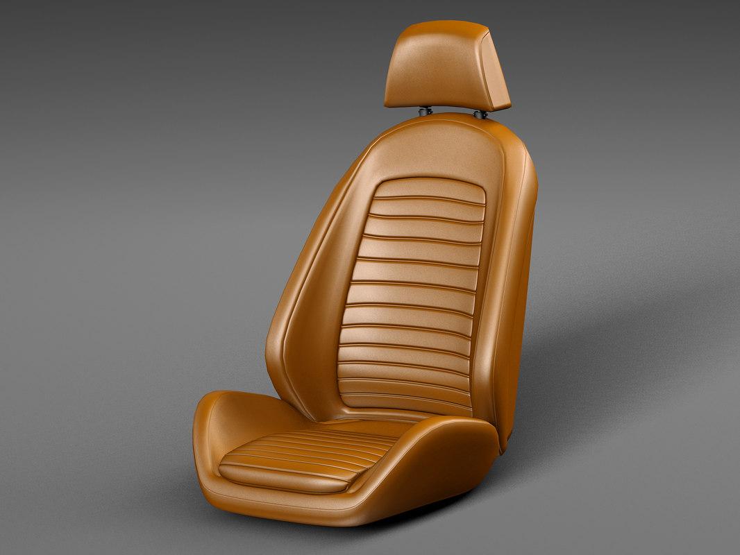 3D model car seat