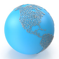 world map wire