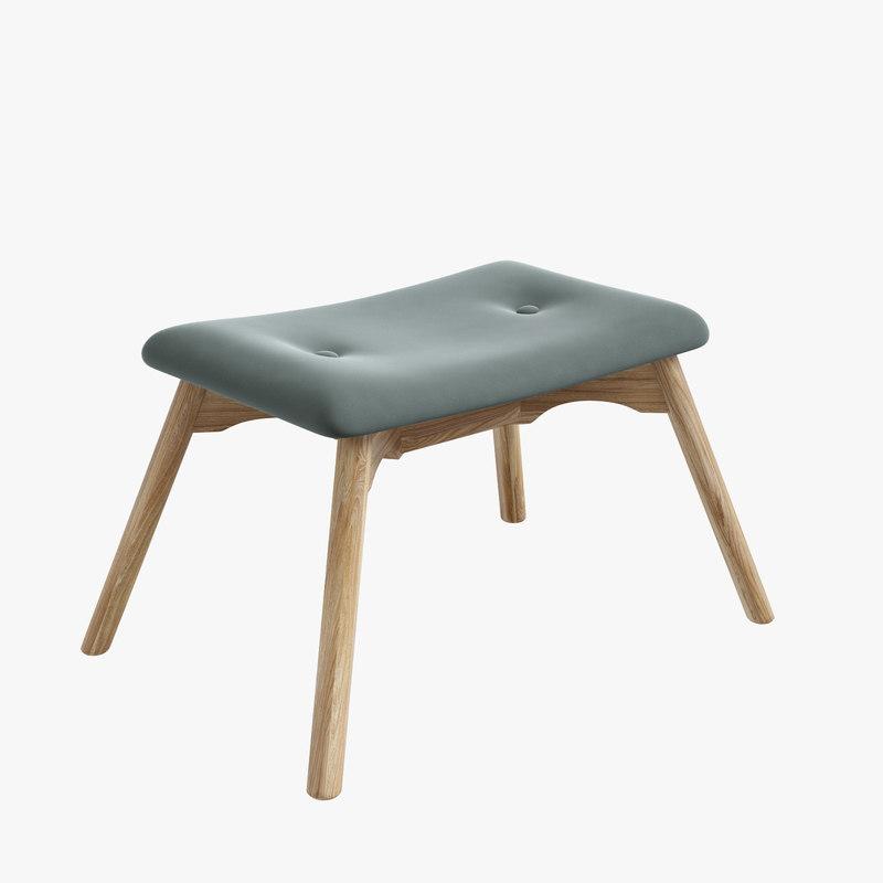 ejerslev footstool 3D