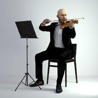 3D Scan Man Musician 029