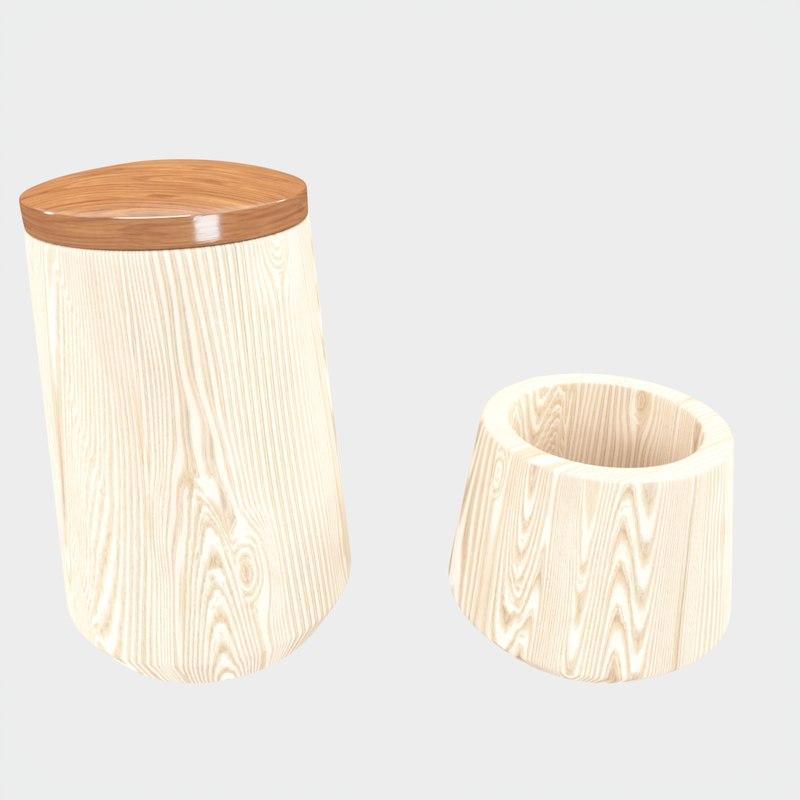 wooden bath accessories model