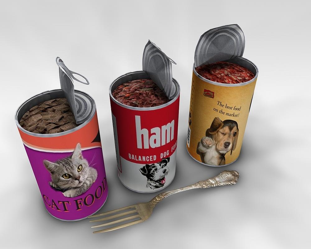 cat dog tin 3D