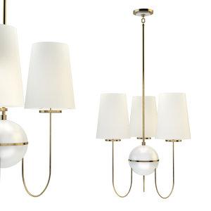 robert abbey fineas chandelier 3D model