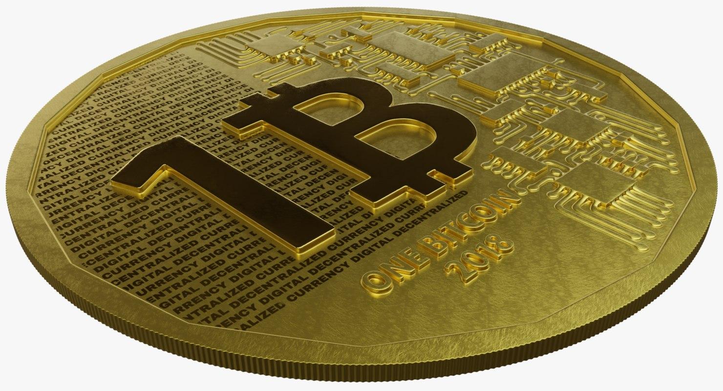 bitcoin modeled 3D model