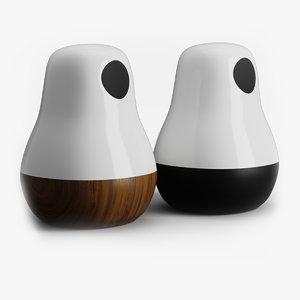 3D model babula table lamp krools