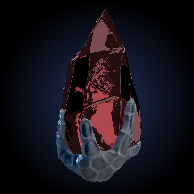magical stone rune 3D model