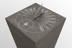 3D antique stone sundial model