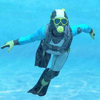 3D diver dry suit model