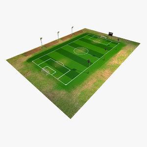 3D model soccer field
