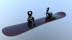 snowboard bindings fast 3D model