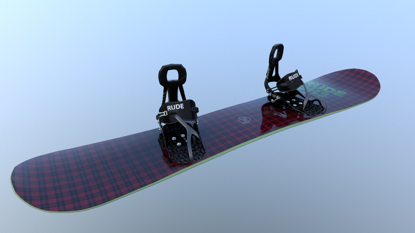 snowboard bindings fast 3D model