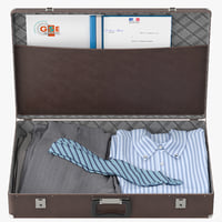3D suitcase clothes