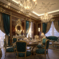 Elegant Living & Dining Room(1)