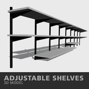 adjustable shelves 3D