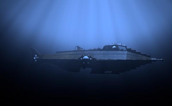 nautilus submarine 3D model