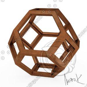3D octaedron leonardo