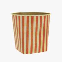 3D popcorn cup