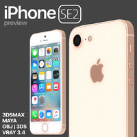 3D apple iphone se2 preview