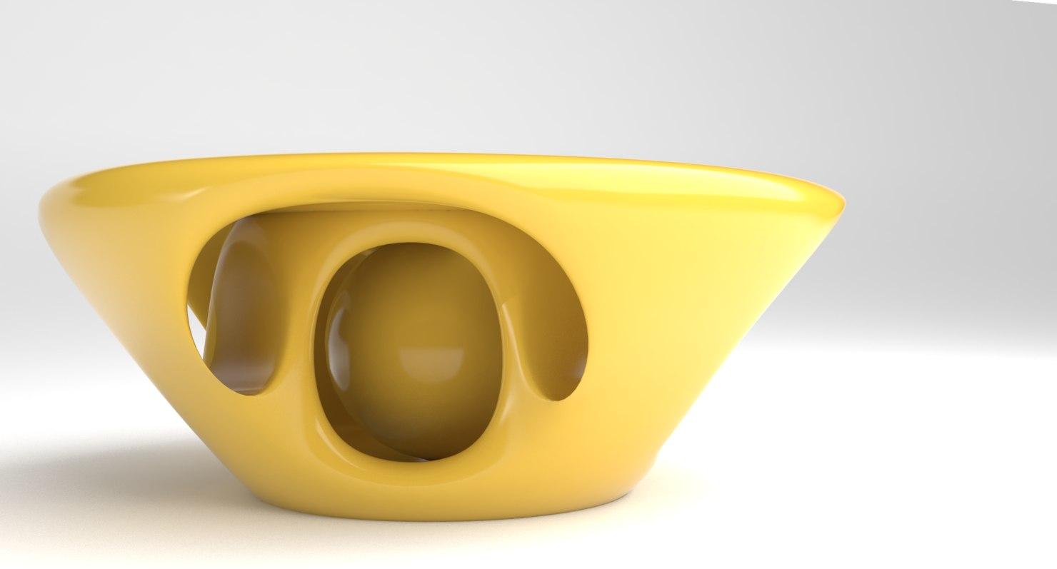 organic table coffee 3D model