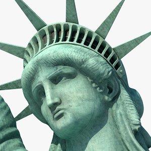 3D realistic statue liberty