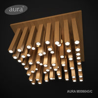 chandelier ceiling aura wood 3D model