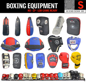 3D model boxing equipment pack 14
