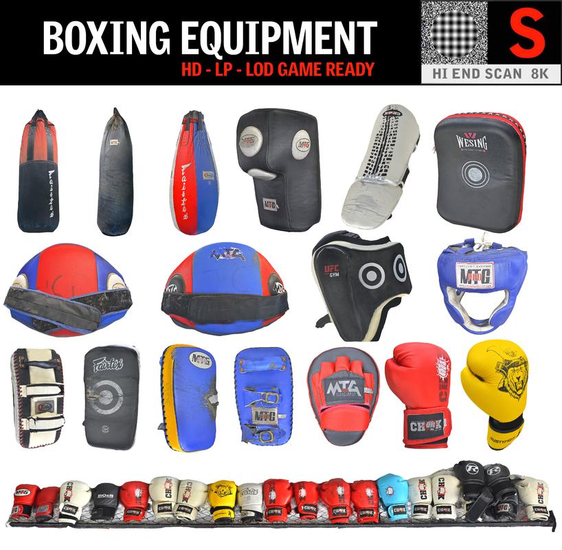 3D model boxing equipment pack 14