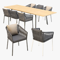 Kettal Bitta Dining Armchair and Table