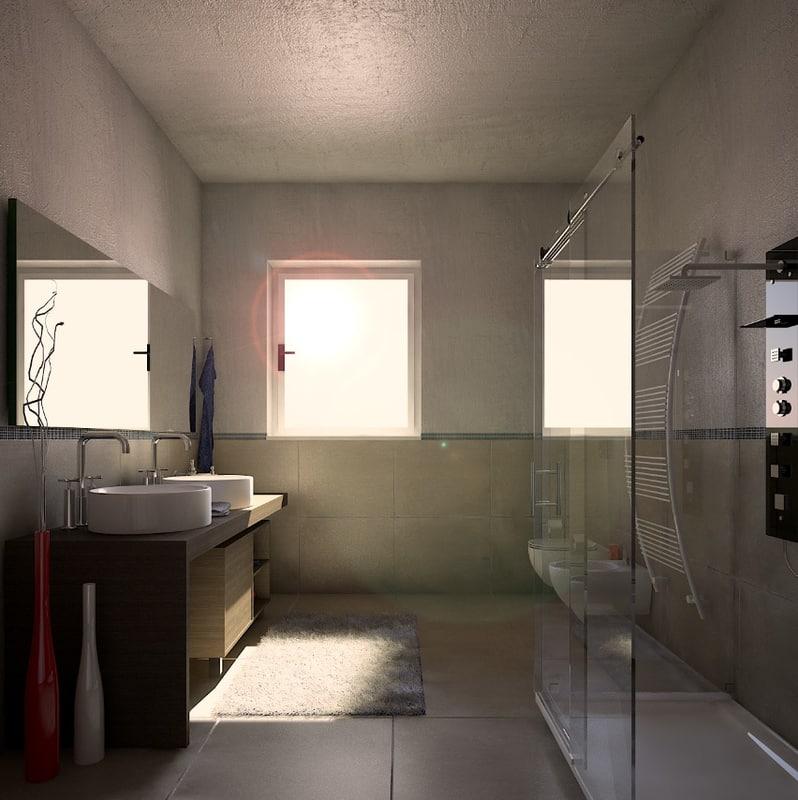 bath light 3D model