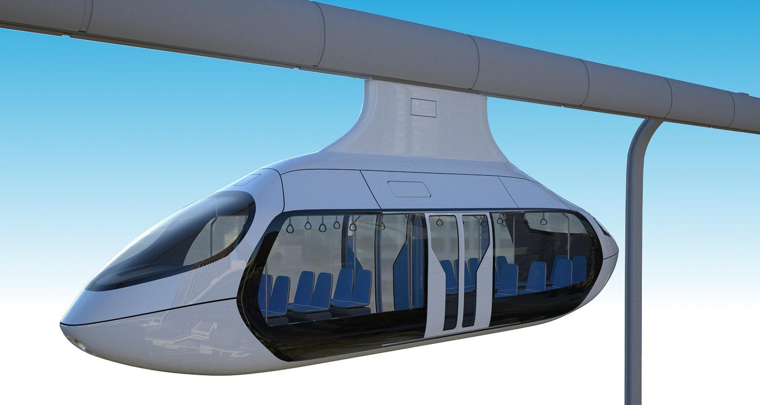 3D model sky rail levitates