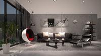 3D model concrete living room