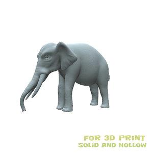 3D elephant animals mammal model