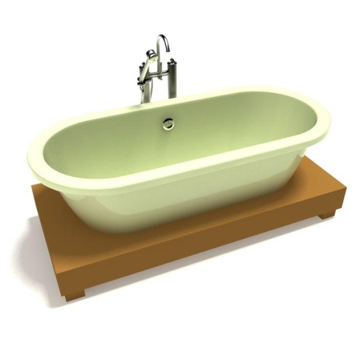 3D bath bathtub