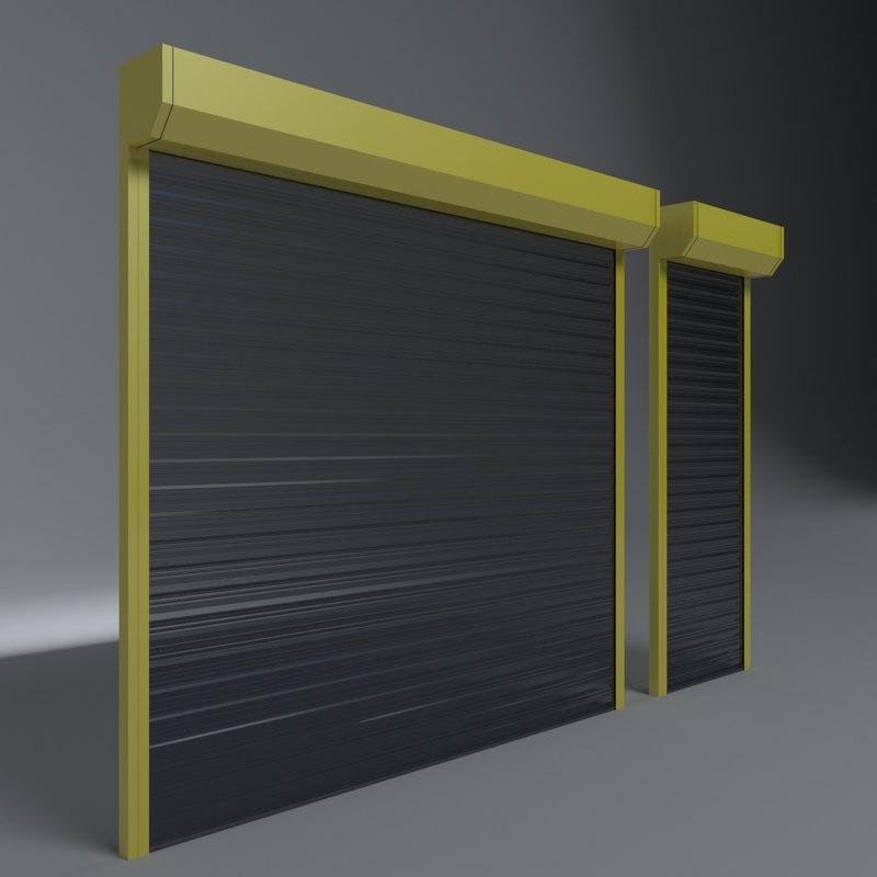 Shop Garage Door 3d Model Turbosquid 1265863