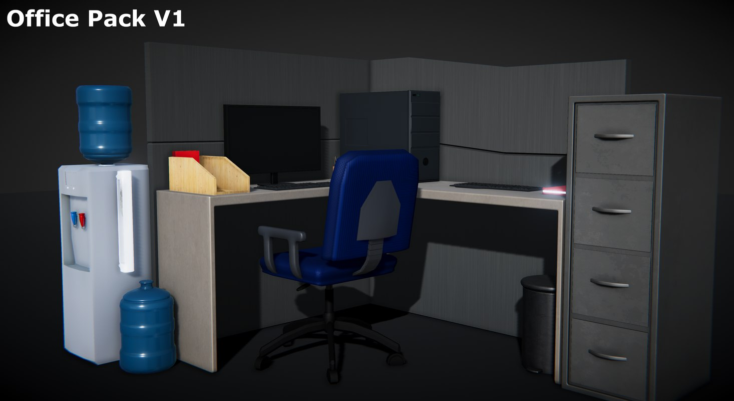 office pack v1 3D model