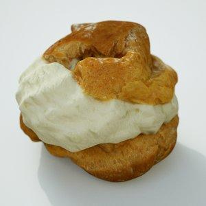 3D model cream puff
