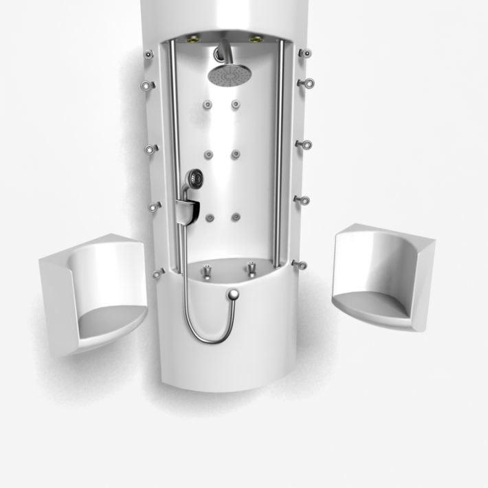 3D shower panel
