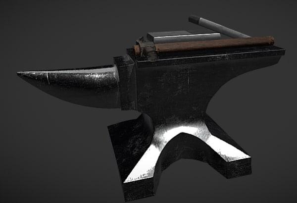 blacksmithing set 3D model