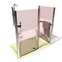 3D model shower cabin
