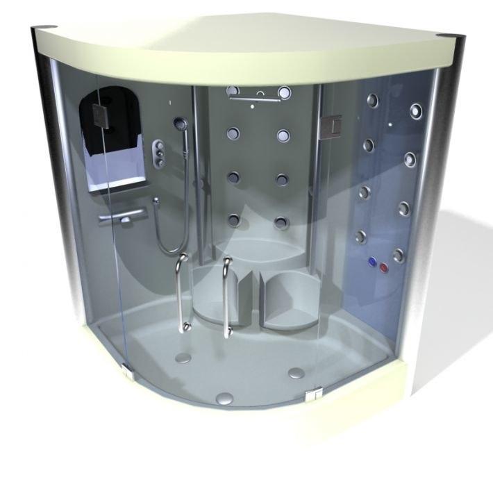 3D shower cabin
