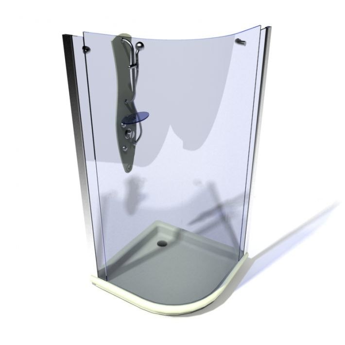 3D model shower cabin