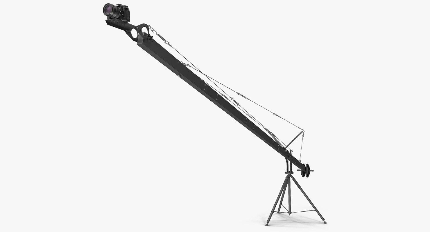 camera crane nikon d500 3D model