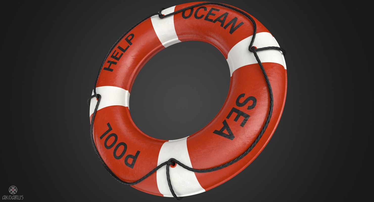 3D realistic ring buoy -