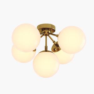 modo 5 brass color 3D