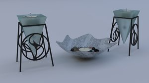tea light set 3D model
