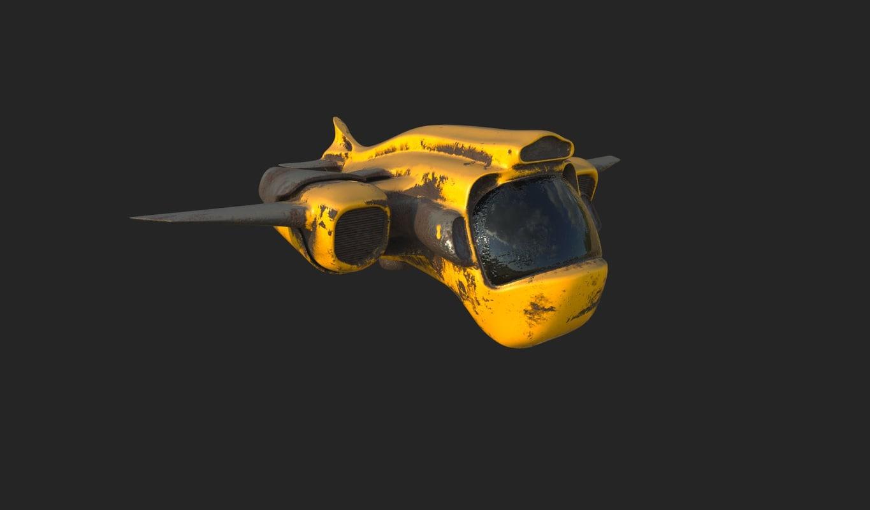 old spaceship 3D model