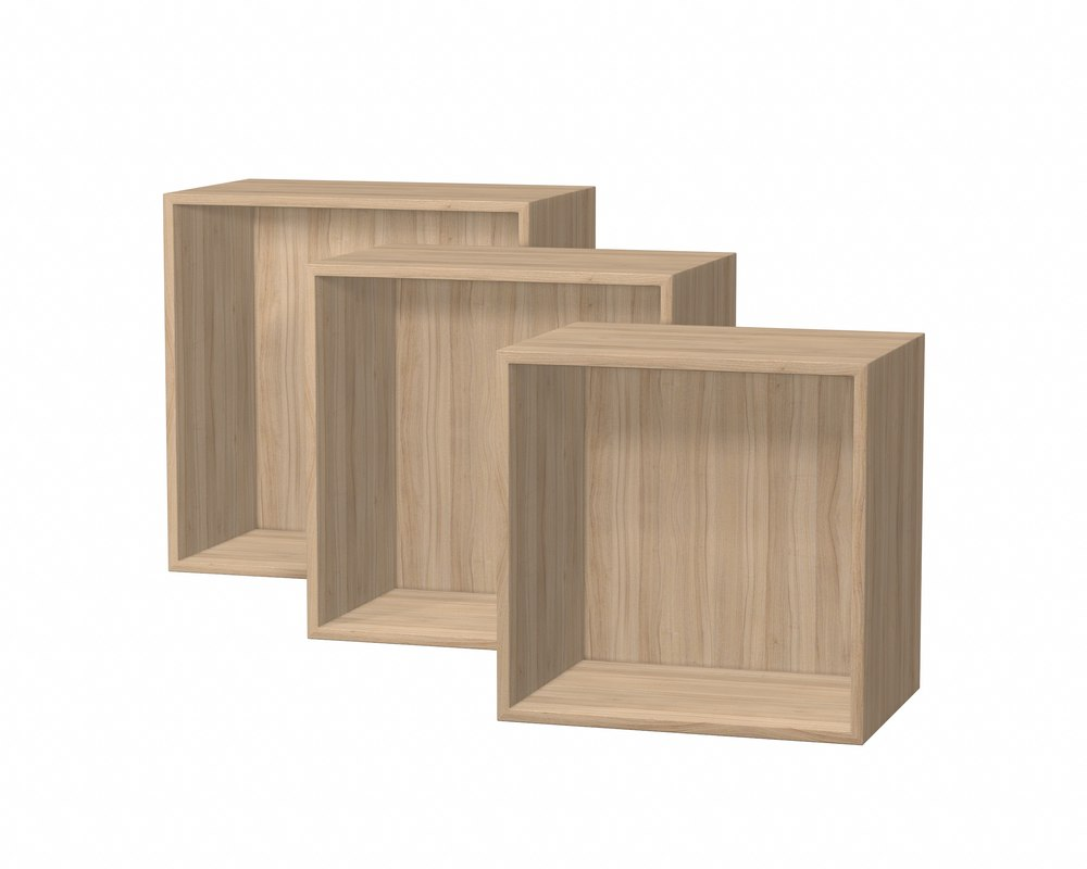 wall shelf set 3 model