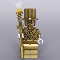3D limited lego gold model
