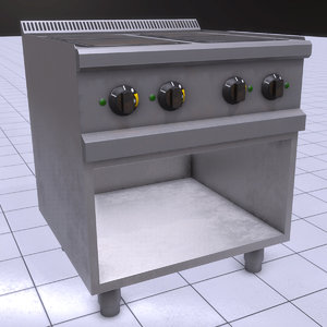3D pbr electric stove fast model