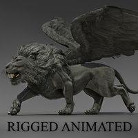 3D winged lion
